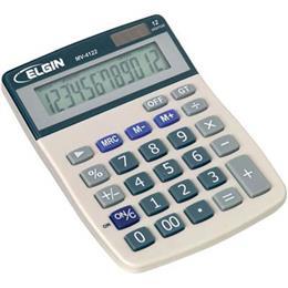 Calculadora de Mesa MV4122 Elgin Solar Bateria 12 Digitos Função Grande Total (Emb. contém 1un.)