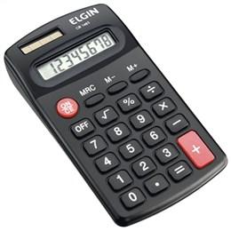 Calculadora de Bolso Elgin CB1483 8 Digitos Porcentagem Solar/Bateria (Emb. contém 1un.)