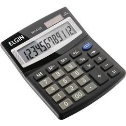Calculadora de Mesa Elgin MV4124 Solar/Bateria Preta 12 Digitos Tecla Duplo Zero (Emb. contém 1un.)