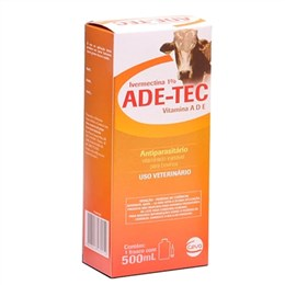 Ade-Tec Ivermectin a 1% Vitamina Ade Injetavel Para Bovinos (Emb. contém 1un. de 500ml)