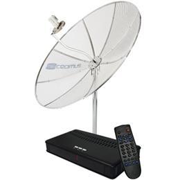 Antena Parabolica Cromus 1,70m com Receptor Remoto LNBF Mono (Emb. contém 1un.)