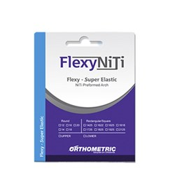 Arco Flexy Niti Redondo Superelástico 016 Inferior 52.10.2016  Orthometric