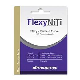 Arco Niti 018X025 Inferior Curva Reversa Retangular Flexy 52.12.2518 Orthometric