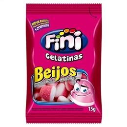 Bala Fini Gelatina Beijo de Morango (Emb. contém 12un. de 15g cada)