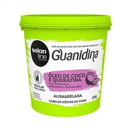 Alisante Creme Salon Line Guanidina Óleo Coco/Queratina Regular (Emb. contém 1un. de 218g)
