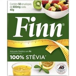 Adoçante Finn Stevia Pó 100 Sachê (Emb. contém 50un. de 800mg de cada)