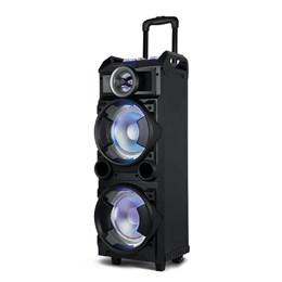 Caixa de Som Torre Double 8 Bt/Fm/Usb/Sd/Aux Microfone 300w Preto - SP282 SP282