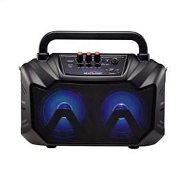 Caixa Amplificadora Multilaser SP289 Double Speaker, Entradas USB, SD Card, Rádio FM, Aux, Microfone, 80W RMS
