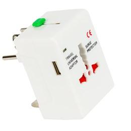 Adaptador Universal de Tomadas com USB