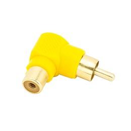 Adaptador Rca 90 Graus Amarelo