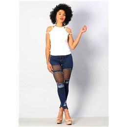 Calça Jeans Feminina Cigarrete Push Up  249673  Grade com 10 peças