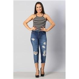 Calça Jeans Feminina Cropped Up  249829  Grade com 10 peças