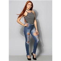 Calça Jeans Feminina Cigarrete Push Up  249894  Grade com 10 peças