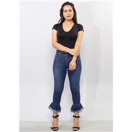 Calça Jeans Feminina Cropped Pantacourt  250613  Grade com 10 peças