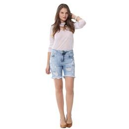 Bermuda Jeans Feminina Boyfriend  251647  Grade com 11 peças