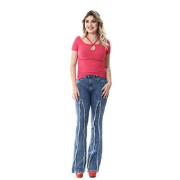 Calça Jeans Feminina Flare  254711  Grade com 11 peças