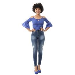 Calça Jeans Feminina Cigarrete Levanta Bumbum  255755  Grade com 11 peças