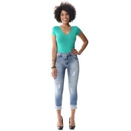 Calça Jeans Feminina Cropped  256299  Grade com 12 peças