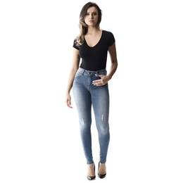 Calça Jeans Feminina Intermediaria  257277  Grade com 11 peças