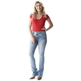 Calça Jeans Feminina Flare Push Up  257511  Grade com 12 peças