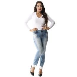 Calça Jeans Feminina Cropped  257540  Grade com 12 peças