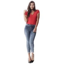 Calça Jeans Feminina Cropped   258142  Grade com 12 peças
