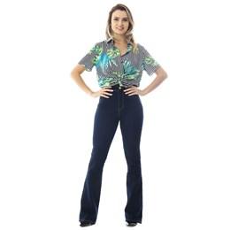 Calça Jeans Feminina Flare Super Lipo 258775  Grade com 12 peças