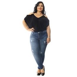 Calça Jeans Feminina Cigarrete Plus Size  258791  Grade com 9 peças