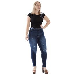 Calça Jeans Feminina Cigarrete Plus Size  259447  Grade com 10 peças