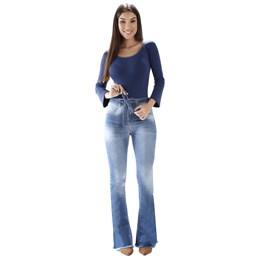 Calça Jeans Feminina Flare  259608  Grade com 8 peças