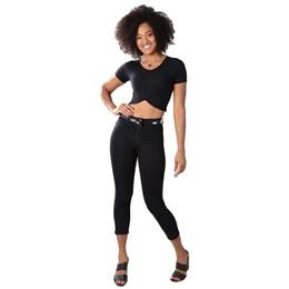 Calça Jeans Feminina Cropped   259647  Grade com 12 peças