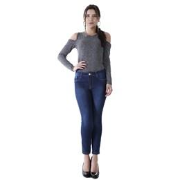 Calça Jeans Feminina Cropped  259784  Grade com 12 peças