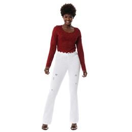 Calça Jeans Feminina Flare Destroyed   259905  Grade com 12 peças
