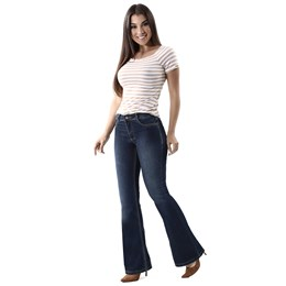 Calça Jeans Feminina Flare Azul  259913  Grade com 13 peças
