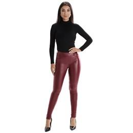 Calça Jeans Feminina Cigarrete Vinho  260376  Grade com 12 peças